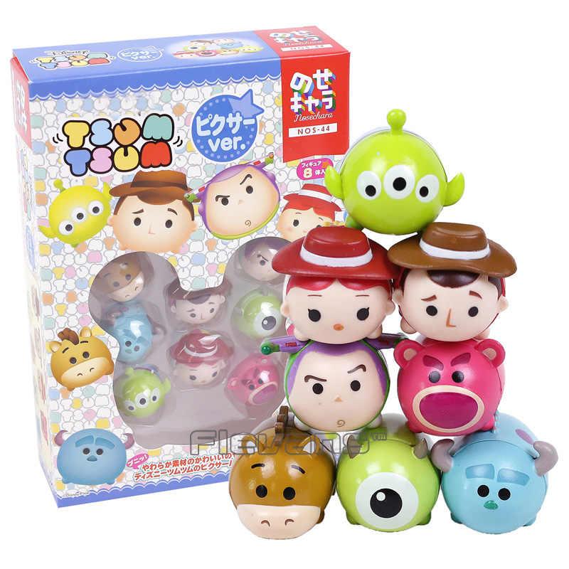 Detalle Comentarios Preguntas sobre Toy Story Woody Buzz Lightyear Jessie  Alien Monsters Inc Mike Sullivan Mini PVC figuras de acción capa pila  juguetes 8 ... 267b63fcff9
