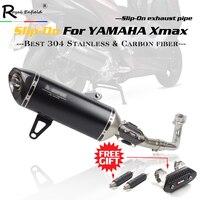 Xmax 300 250 Slip On выхлопная труба из углеродного волокна глушитель выхлопной трубы для Yamaha XMAX 250 300 cc 2017 2018 с DB killer & laser