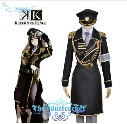 Newest High Quality Anime K Second Season Yatogami Kuroh Uniform Cosplay Costume Perfect Custom For You