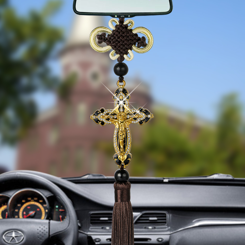 Car Pendants Auto Decoration Jesus Figurine Cross Hanging Automobiles Rear View Mirror Christian Suspension Decor AccessoriesCar Pendants Auto Decoration Jesus Figurine Cross Hanging Automobiles Rear View Mirror Christian Suspension Decor Accessories