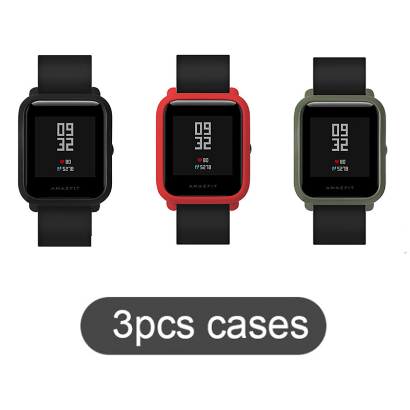 SIKAI Hot Sale 3 Pcs Original Watch Case Movement PC Protective Case For Xiaomi Huami Amazfit Bip Younth Colorful PC Watch Cases pudini protective pc case for nokia 929 blue