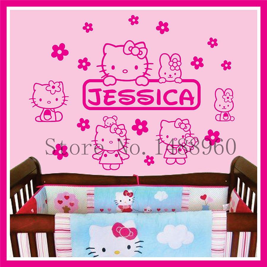 Online Get Cheap Kids Wall Posters Hello Kitty Aliexpresscom - Hello kitty custom vinyl stickers