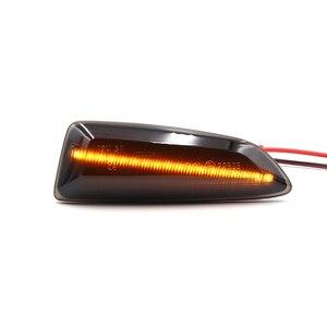 Image 5 - 2Pcs LED אמבר דינמי זורם איתות צד מרקר אור עבור אופל אסטרה J K 2015 Zafira C Insignia B Grandland X 2017