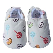 Spring and Autumn Baby Boy Girl Baby Cartoon Solid Indoor Frist Walkers Shoes Cute Cartoon Cotton Shoes 0-12M Y13