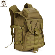 Outdoors Camping Bags,40L Waterproof Molle Backpacks Military 3P Tactical Backpack Assault Nylon Travel Bag for Men Women Y108