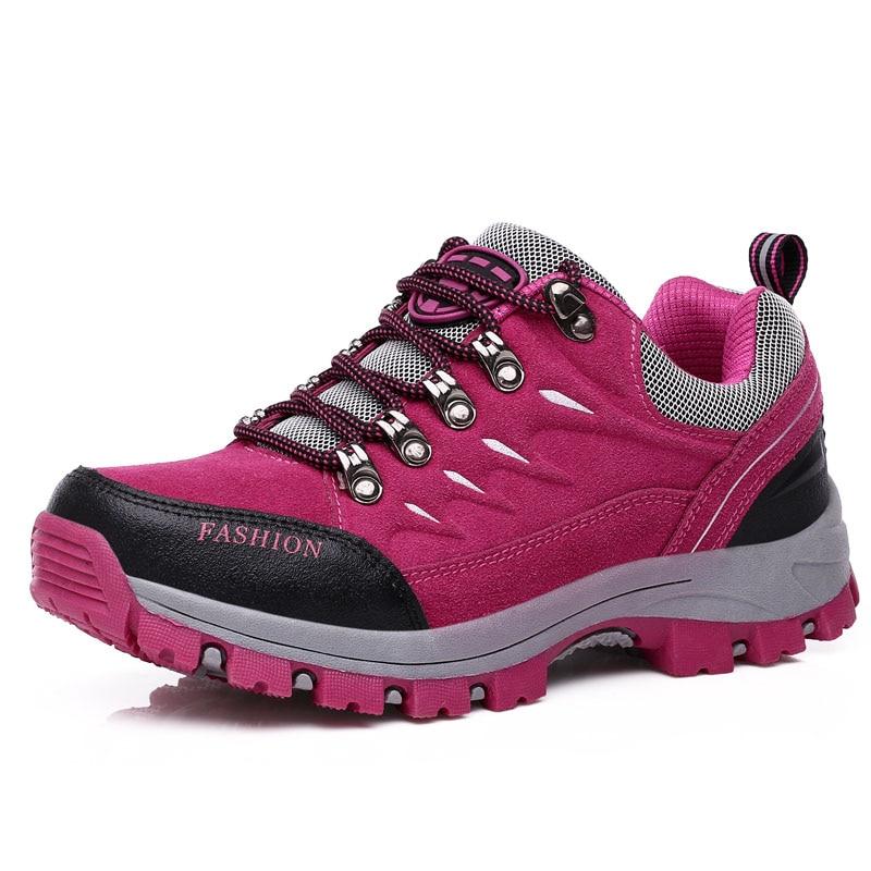 Couple Hiking Shoes Man Women Waterproof Hiking Boots Outdoor Non slip Mountain Climbing Camping Shoes Trekking