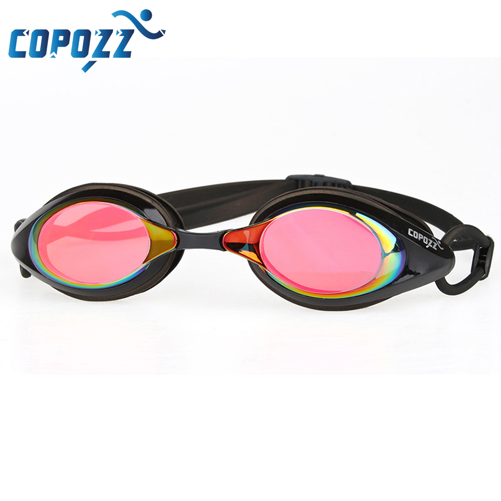 Copozz Swim Goggles Plating Mirrored Swimming Glasses Waterproof for Men Women Adults Sport anti uv fog