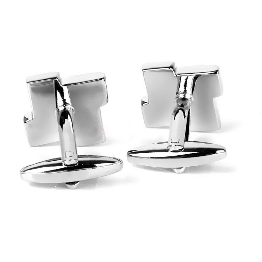 HTB16WQsJVXXXXaAXXXXq6xXFXXXB - Men's Gingham Silver Cufflinks