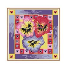 Joy Sunday 5D DIY Diamond Painting Flowers Full New Drill Square Rhinestone Pictures Embroidery Icons Mosaic