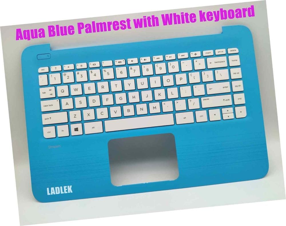 New US Blue Palmrest white keyboard for HP 14 ax001nm 14 ax002nm 14 ax003nm 14 ax004nm