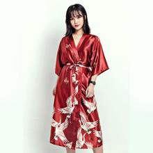 371d1e30b Summer Sexy Women Satin Nightdress Gown Chinese Bride Wedding Robe Dress  Vintage Kimono Yukata Bath Nightgown