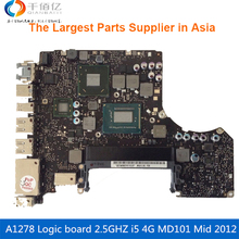 Laptop Motherboard For MacBook Pro A1278 Logic Board 13′ MD101 4G i5 2.5GHZ 820-3115-A Mid 2012