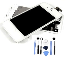 High Quality LCD and Front Glass & Touch Panel Digitizer Assembly & Back Cover Conversion Kits For iPhone 4s White or Black
