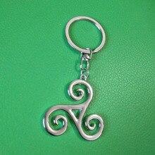 10 قطع التين وولف Triskele قلادة مفتاح سلسلة حلقة Triskelion أليسون الفضي كيرينغ للرجال والنساء هدية J185