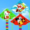 Envío de la alta calidad del gatito panda kite kite 10 unids/lote tela de nylon ripstop cometa cometas niños pato linternas del cielo para venta