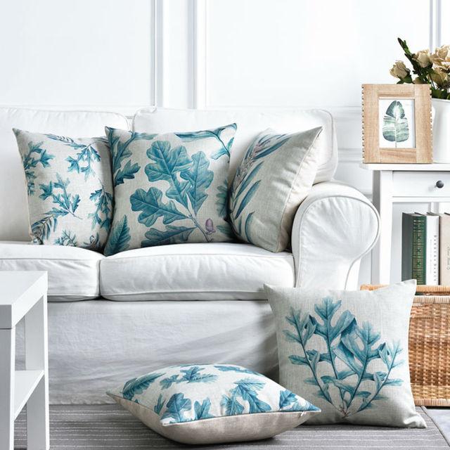 Cushion Cover Pillow Case Throw Decorative Cushion Covers Ice Blue Enchanting Ice Blue Decorative Pillows