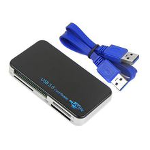 USB 3.0 Compact Flash All-in-1 Multi Memory Card Reader Adapter CF MicroSD MS XD Multifunction Memory Cards Readers VHE46 T40
