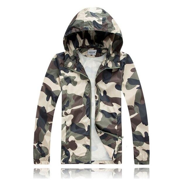 Демисезонный Куртки Для мужчин Модная камуфляжная куртка мужской пальто с капюшоном ветрозащитный Водонепроницаемый куртка с капюшоном Пальто для будущих мам плюс Размеры M-XXL