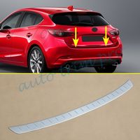 Stainless Steel Rear Gate Bumper Sill Protect Cover Trim Fit For Mazda 3 BM Hatchback 2017 2018 Stripes Accessories Decoration