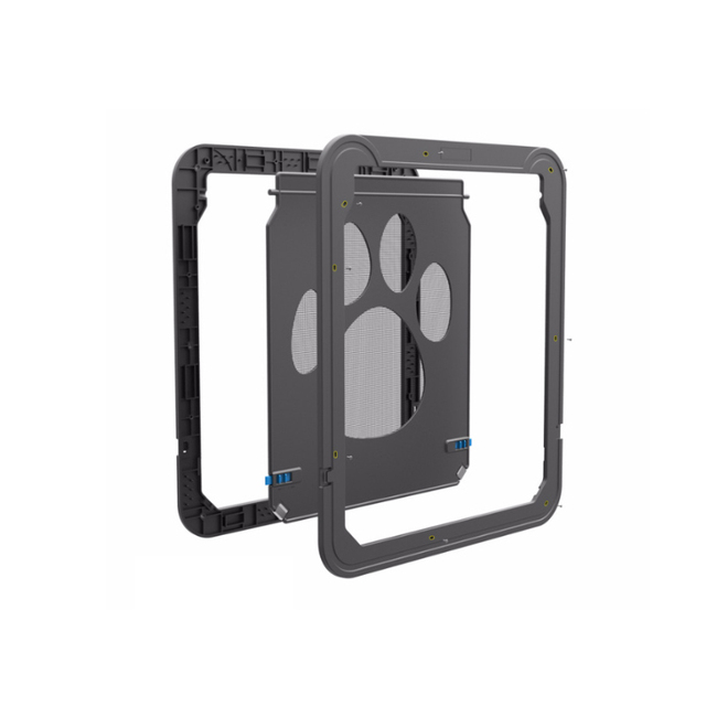 Lockable Cat Dog Door Automatic Dog Cat Door Hand Print Magnetic