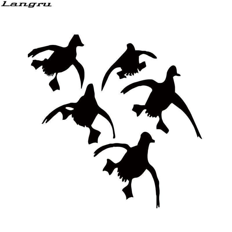 Langru Cute Flying Ducks Landing Hunting Car Styling Funny