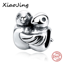 hot deal buy 925 sterling silver animal mandarin duck charms beads fit original european charm bracelet beads diy jewelry making for women
