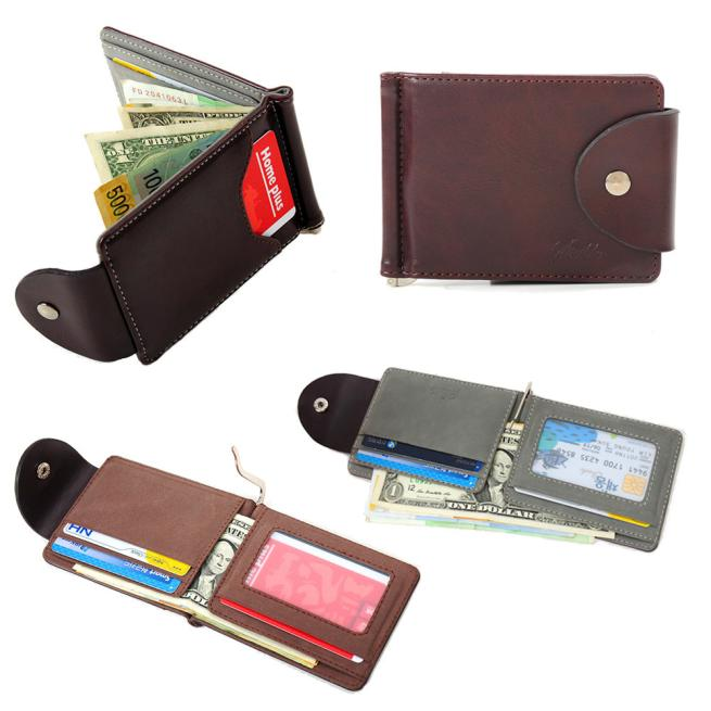 2018 Superior Quality Men Ultra-thin Leather Money Slim Wallets ID Credit Card Holder Purse B# dropship 328