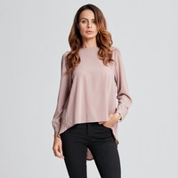ZANZEA Autumn 2016 Women Blouses Sexy Casual Loose Chiffon Tops Long Sleeve Oversized Solid Shirts Blusas