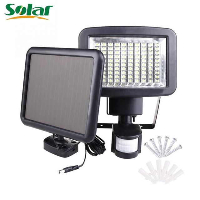 solar light 120 led solar powered security lights waterproof outdoor motion sensor lamp lighting for wall