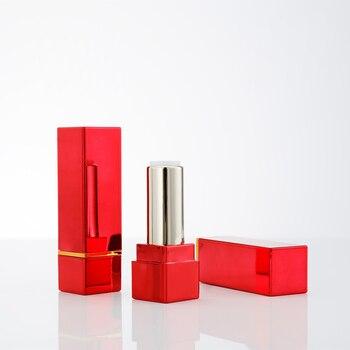 Gold black silver square tube high-grade lipstick tube oem lipstick case