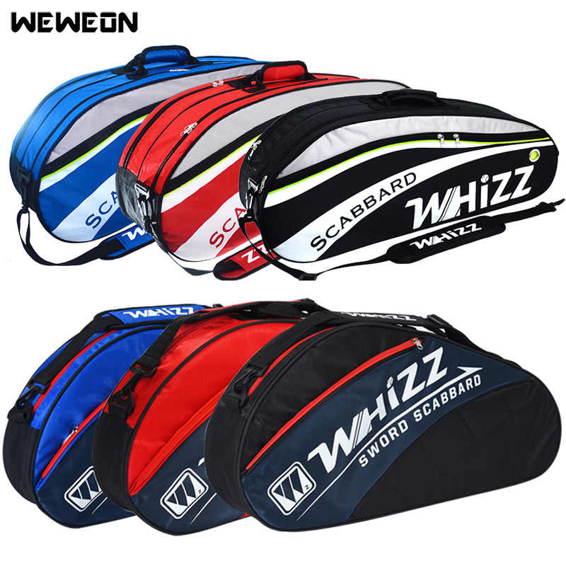 4-6Pcs Badminton Racquet Bag Tennis Bags for Training Jacquard Racket Sports Backpack for Shoes Men Women Squash Accessories