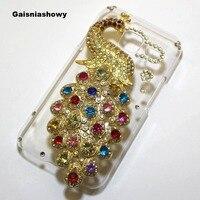 Für Samsung Galaxy J1 Mini Fall Abdeckung, handgemachte Bling 3D Pfau Telefon-kastenabdeckung Für Samsung Galaxy J1 Mini J105 J105H J105F
