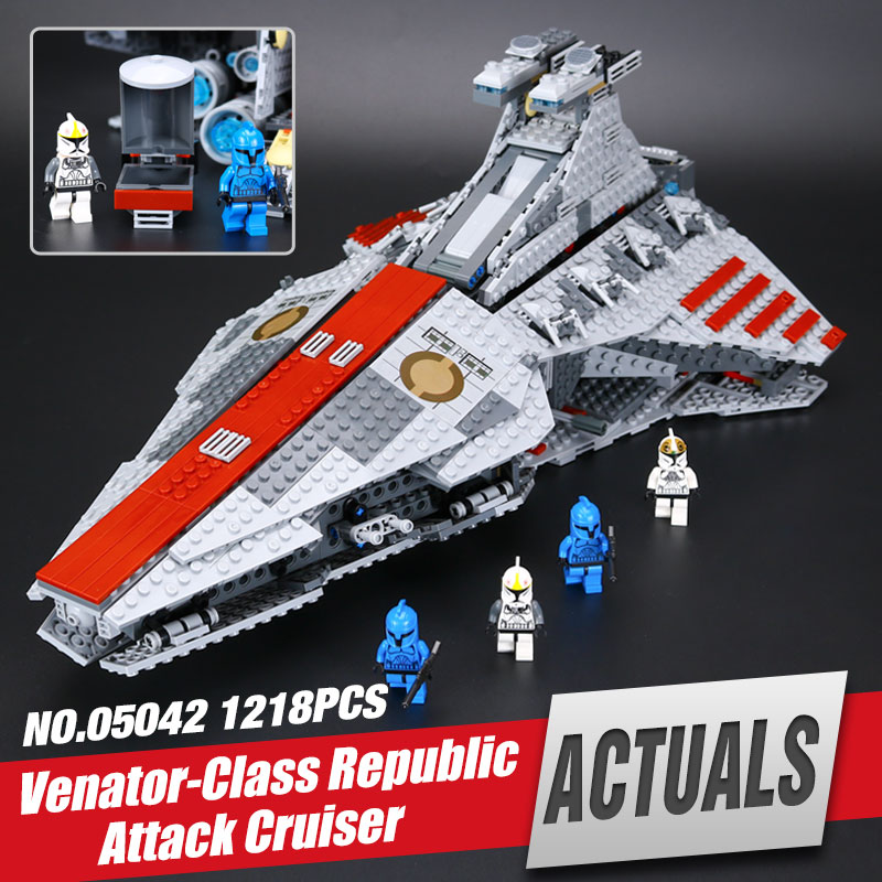 LEPIN 05042 Star Venator set Class Republic toy Attack Model Cruiser Educational Building Kits Blocks Bricks War Toy legom 8039 a toy a dream lepin 15008 2462pcs city street creator green grocer model building kits blocks bricks compatible 10185