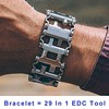 29 In 1 Multi Function Hiking Camping Survival Outdoor EDC Tools Men Women Bracelets Stainless Steel