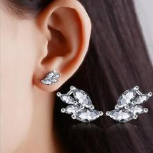 цена на 2017 new arrival hot sell fashion shiny CZ diamond 925 sterling silver ladies`stud earrings jewelry gift wholesale drop shipping