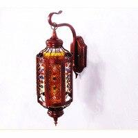 Bohemia wall lamps hanging coffee shop iron bar pendant light crystal bedroom lights wall lamps colour lighing za829611