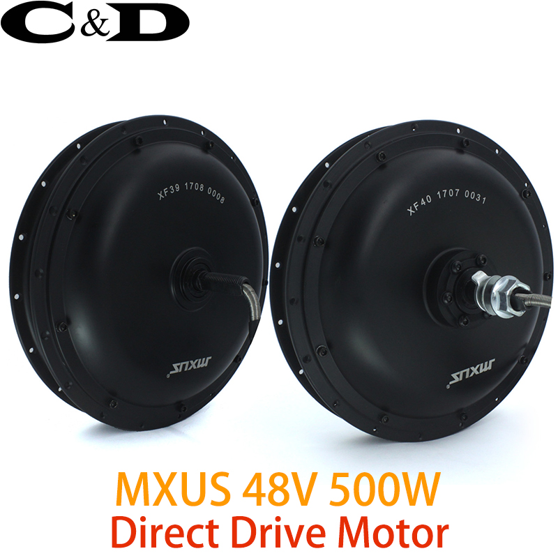 48V 500W Direct Drive Gearless Hub Motor E bike Motor Front Motor Rear Cassette Motor Optional