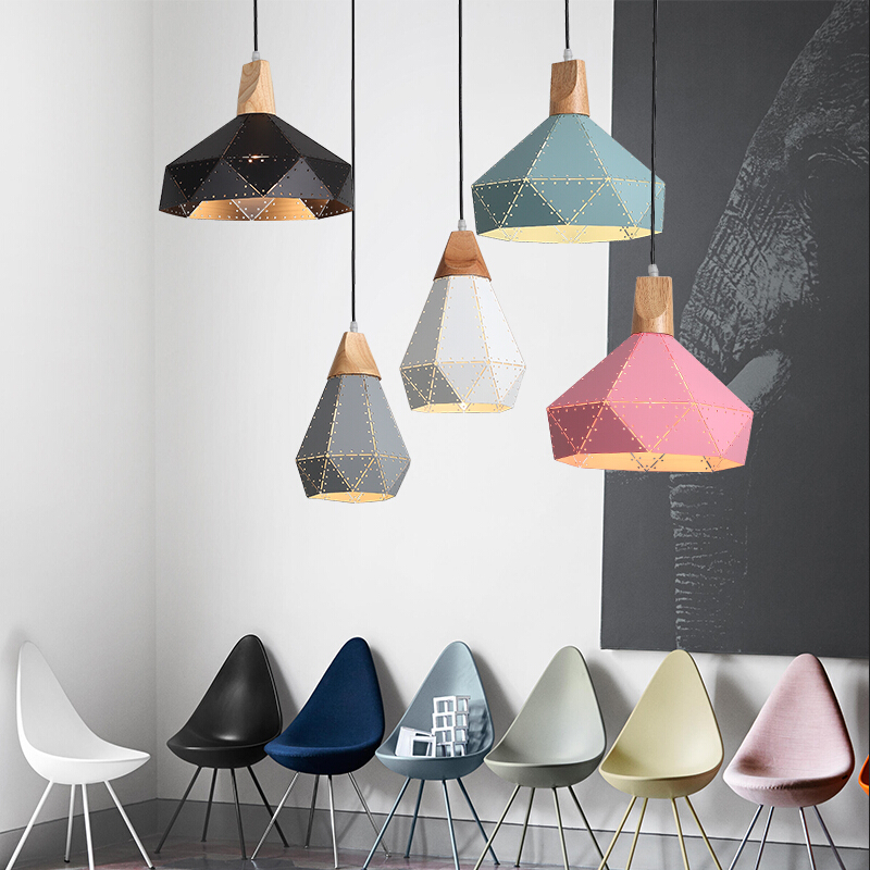 New Nordic Iron Pendant Lights Macaron lamp for Restaurant /Bar/Coffee Shop Home Lighting Luminarias все цены
