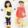 2017 otoño niños ropa trajes niñas ropa niño fijó conjunto de ropa deportiva ocasional de la muchacha envío libre del juego