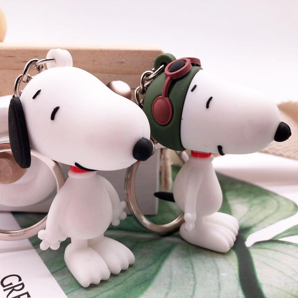 2019 New Cute Key Chain Cartoon Dog Keychain Peanuts Dog Keychain For Men Key Chain Or Women Key Chain Girls Key Ring