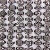 Wholesale Bulk 20Pcs Assorted Gothic Punk Skull Head Biker Tibet Black Alloy Finger Ring Band Men