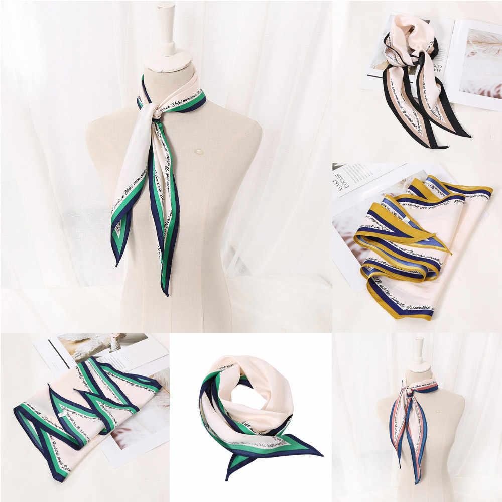 Fashion Wanita Syal Selendang Tippet Diamond Square Lembut Membungkus Syal Huruf Syal Dekorasi Elastis Selendang Syal Sempurna Foulard