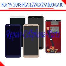 5.93'' Full LCD DIsplay + Touch Screen Digitizer Glass Assembly For Huawei Y9 2018 FLA-L22 FLA-LX2 FLA-AL00 FLA-LA10(China)