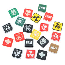 Swat Glow Patch Pvc Mini Pictogram Licht Dressing Kleding Decoratieve Rugzak Sticker S Biochemie Skull Bear Claw Shiny Sticker(China)