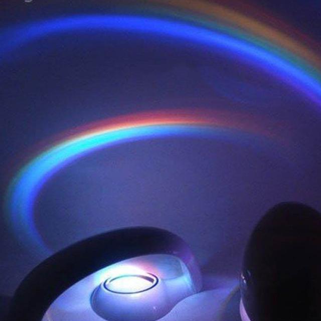 Creativo LED de Colores Del Arco Iris Romántico Proyector de Luz de La Noche de Regalo de Navidad