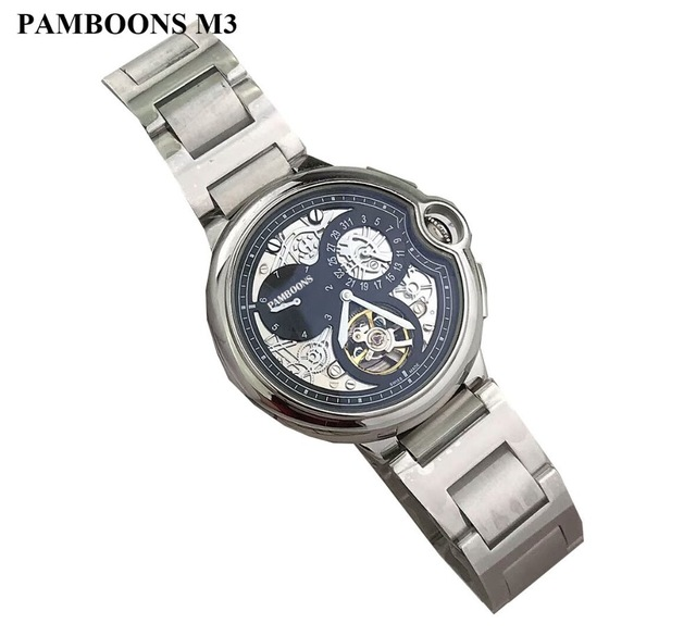 Wrist Watch Men 2018 Top Brand Luxury Male Famous Clock Automatic Mechanical Watches Calendar Date Tourbillon + BOX original binger mans automatic mechanical wrist watch date display watch self wind steel with gold wheel watches new luxury
