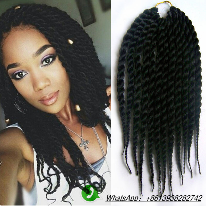 Mambo Twist Crochet Braid Hair! 80g/piece12-24inch Synthetic Braiding ...