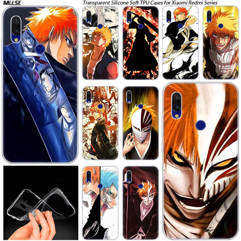 Anime BLEACH Bleach Ulquiorra Shifer Panas Silicone Case untuk Xiaomi Redmi K20 7 7A 5 5Plus 6 6A S2 Note 8 7 6 5 Pro Fashion Cover