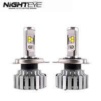 Nighteye 80W 9000LM Set H4 HB2 9003 LED Car Headlight Bulbs Auto Fog Lamps Light 6000K