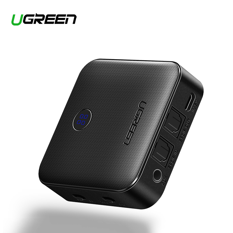 Ugreen Bluetooth Receiver 4.2 aptX Transmitter for Headphone <font><b>Optical</b></font> <font><b>3.5mm</b></font> SPDIF Bluetooth <font><b>Audio</b></font> Receiver Adapter for Car TV image